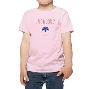 Polera Niños Calambur 100% algodón modelo Jugador 2 rosado
