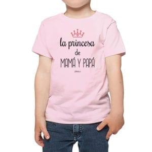 Polera Niños Calambur 100% algodón modelo La Princesa de Mamá y Papá rosado