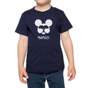 Polera Niños Calambur 100% algodón modelo Mickey azul marino