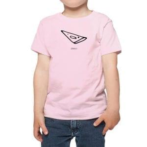 Polera Niños Calambur 100% algodón modelo Polera Pizza Negra rosado
