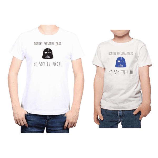 Conjunto Papá Niño Poleras 100% algodón Calambur diseño Star Wars personalizado