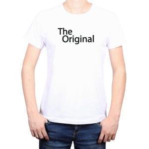 Polera Hombre Calambur 100% algodón diseño The Original blanco
