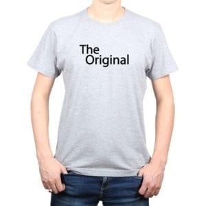 Polera Hombre Calambur 100% algodón diseño The Original gris