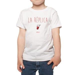 Polera Niño Calambur 100% algodón diseño La Réplica blanco