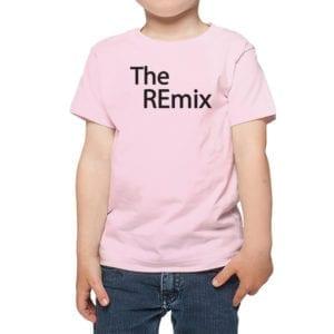 Polera Niños Calambur 100% algodón diseño The Remix rosado