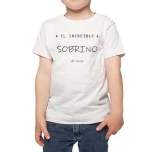Polera Niños Increíble Sobrino Nombres Personalizados Calambur blanco