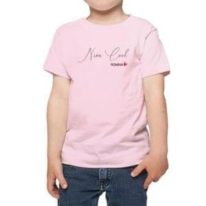 Polera Niña Niña Cool Nombre Personalizado Calambur rosado